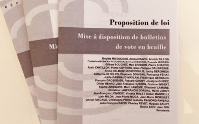 Dépôt d'une proposition de loi pour des bulletins de vote en braille