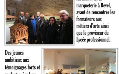 Réception en Haute-Garonne de la délégation sénatoriale aux entreprises – 12/12/2019